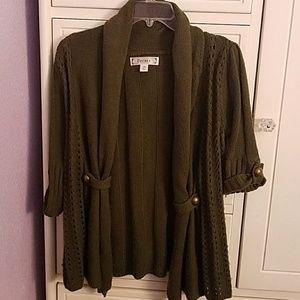 Ladies 3-4 sleeve sweater
